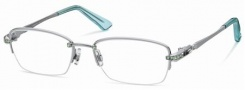 Swarovski SK5001 Eyeglasses Eyeglasses - 01A Silver-Azure/Demo Lens