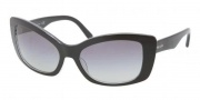 Prada PR 03NS Sunglasses Sunglasses - 2AF3M1 Crystal Black / Gray Gradient