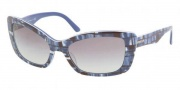 Prada PR 03NS Sunglasses Sunglasses - BF23M1 Top Mimetic Blue / Blue Gray Gradient