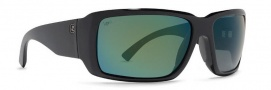 Von Zipper Drydock Polarized Sunglasses Sunglasses - BGG-Black Gloss / Green Chrome Glass Polarized