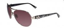 Bebe BB 7018 Sunglasses Sunglasses - Silver Lace / Grey Gradient
