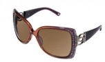 Bebe BB 7000 Sunglasses Sunglasses - Amethyst / Brown Gradient