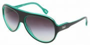 D&G DD 3059 Sunglasses Sunglasses - 17738G Black on Green