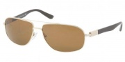 Prada PR 57NS Sunglasses Sunglasses - ZVN8C1 Pale Gold Crystal / Brown