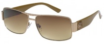 Guess GU 6560 Sunglasses Sunglasses - GLD-34: Gold / Brown Gradient
