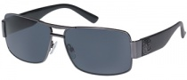 Guess GU 6560 Sunglasses Sunglasses - GUN-3: Gunmetal / Grey Lens