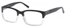 Guess GU 1687 Eyeglasses Eyeglasses - BLKCRY: Black / Crystal