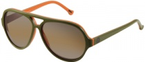 Gant GS MB Lax Sunglasses Sunglasses - OL-94F: Olive Over Orange