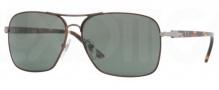 Persol PO2394S Sunglasses Sunglasses - 996/31 Matte Brown / Crystal Green