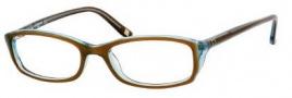 Liz Claiborne 418 Eyeglasses Eyeglasses - OEUH Khaki Aquamarine