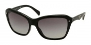 Prada PR 24NS Sunglasses Sunglasses - 1AB3M1 Gloss Black / Gray Gradient