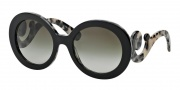 Prada PR 27NS Sunglasses Sunglasses - ROK4M1 Top Black / White Havana / Green Gradient