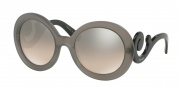 Prada PR 27NS Sunglasses Sunglasses - UBV4P0 Dark Grey Matte Transparent /Light Brown Gradient Light Grey Mirror Silver