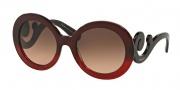 Prada PR 27NS Sunglasses Sunglasses - MAX0A5 Red Gradient / Brown Gradient