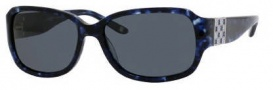 Liz Claiborne 537/S Sunglasses Sunglasses - JTWP Navy Black Marble (RA Gray Polarized Lens)