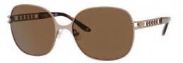 Liz Claiborne 545/S Sunglasses Sunglasses - 1B0P Light Gold (VW Brown Polarized Lens)