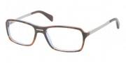 Prada PR 15NV Eyeglasses Eyeglasses - CAJ1O1 Top Dark Tortosie Blue