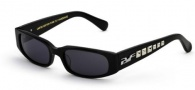 Black Flys Sunglasses Punk Fly Sunglasses - Shiny Black Silver Stud
