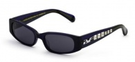 Black Flys Sunglasses Punk Fly Sunglasses - Shiny Navy Silver Stud