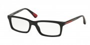 Prada Sport PS 02CV Eyeglasses Eyeglasses - 1AB1O1 Black