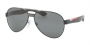 Prada Sport PS 55MS Sunglasses Sunglasses - 1BO1A1 Black Demi Shiny / Gray