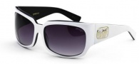 Black Flys Zipper Fly Sunglasses Sunglasses - White / Black