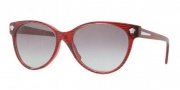 Versace VE4214 Sunglasses Sunglasses - 935/11 Waves Red / Gray Gradient
