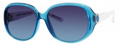 Marc by Marc Jacobs MMJ 150/S Sunglasses Sunglasses - OZ01 Azure White (NM Gray Gradient Turquoise Lens)
