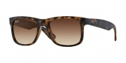 Ray-Ban RB4165 Sunglasses - Justin Sunglasses - 710/13 Rubber Light Havana / Brown Gradient