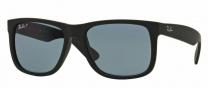 Ray-Ban RB4165 Sunglasses - Justin Sunglasses - 622/2V Black Rubber / Dark Polar Blue