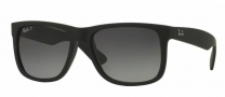 Ray-Ban RB4165 Sunglasses - Justin Sunglasses - 622/T3 Black Rubber / Polar Grey Gradient