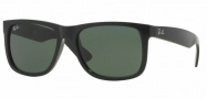 Ray-Ban RB4165 Sunglasses - Justin Sunglasses - 601/71 Black /Green