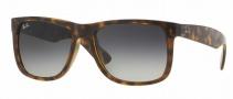 Ray-Ban RB4165 Sunglasses - Justin Sunglasses - 710/8G Shiny Havana / Grey Gradient Dark Grey
