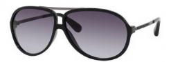 Marc by Marc Jacobs MMJ 220/S Sunglasses Sunglasses - OKKL Black / Dark Ruthenium (JJ Gray Gradient Lens)