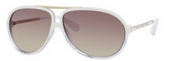 Marc by Marc Jacobs MMJ 220/S Sunglasses Sunglasses - OYRG White Crystal Gold (7W Brown Gold Mirror Lens)