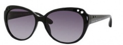 Marc by Marc Jacobs MMJ 232/S Sunglasses Sunglasses - 0D28 Shiny Black (DX Dark Gray Shaded Lens)