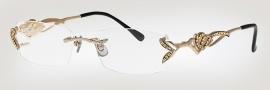 Caviar 1653 Eyeglasses Eyeglasses - (21)Gold / Clear Crystal Stones