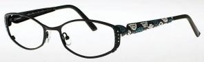 Caviar 1707 Eyeglasses Eyeglasses - (24) Black w/ Clear Crystal Stones