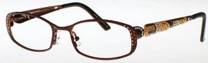 Caviar 1708 Eyeglasses Eyeglasses - (16) Brown w/ Topaz Stones