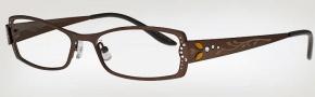 Caviar 1731 Eyeglasses Eyeglasses - (16) Brown w/ Clear/Topaz Crystal Stones