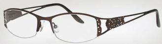 Caviar 1737 Eyeglasses Eyeglasses - (16) Brown w/ Clear/Topaz Crystal Stones