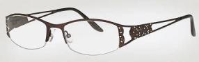 Caviar 1738 Eyeglasses Eyeglasses - (16) Brown w/ Clear/Topaz Crystal Stones