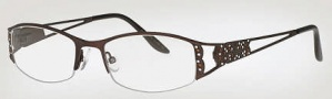 Caviar 1738 Eyeglasses Eyeglasses - (24) Black w/ Clear Crystal Stones