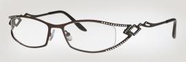 Caviar 1739 Eyeglasses Eyeglasses - (24) Black w/ Clear Crystal Stones