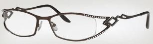 Caviar 1739 Eyeglasses Eyeglasses - (16) Brown w/ Clear/Topaz Crystal Stones