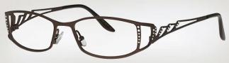 Caviar 1741 Eyeglasses Eyeglasses - (16) Brown w/Clear Crystal Stones
