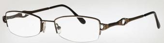 Caviar 2325 Eyeglasses Eyeglasses - (16) Brown w/ Clear/Topaz Crystal Stones