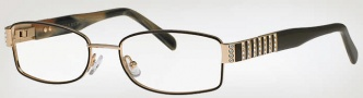 Caviar 4857 Eyeglasses Eyeglasses - (16) Brown w/ Clear/Brown Crystal Stones