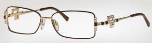 Caviar 5572 Eyeglasses Eyeglasses - (16) Brown w/ Topaz / Crystal Stones