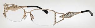 Caviar 5570 Eyeglasses Eyeglasses - (21) Gold w/ Clear Crystal Stones